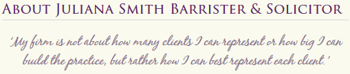 Juliana Smith Barrister & Solicitor